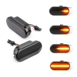 LED Seitenblinker dynamisch schwarz smoke Audi A6/S6/RS6 00-11