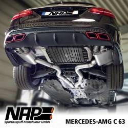 NAP Klappenauspuff-Anlage Mercedes Benza C63 AMG S205