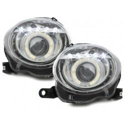 LED Angel Eye Scheinwerfer Chrom Fiat 500 Abarth