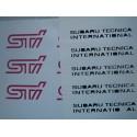 Beschriftung STI Performance Subaru