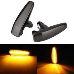 Sequentiell LED Seitenblinker schwarz smoke Mitsubishi Lancer und EVO 10