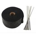 Auspuff Hitzeschutzband Schwarz 5m x 50mm