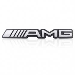 Mercedes Benz AMG Logo schwarz Chrom gross