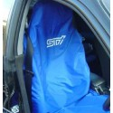 Subaru Sitz-Schonbezug STI Blau/Weiss