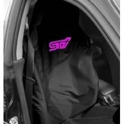 Subaru Sitz-Schonbezug STI Schwarz/Pink