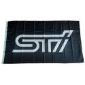 Subaru STI Fahne Schwarz 90x150