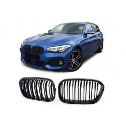 BMW 1er 15- Sportgrill Nieren Set Doppelspeiche Carbon