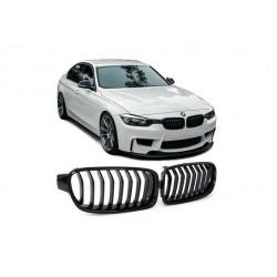 BMW 3er 11-16 Sportgrill Nieren Set Schwarz glanz