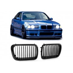 BMW 3er 1996-2000 Sportgrill Nieren Set M3 Look Schwarz glanz