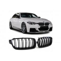 BMW 3er 2011-2016 Sportgrill Nieren Set M3 Look Schwarz matt