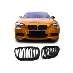 BMW 1er 2011-2015 Sportgrill Nieren Set Doppelspeiche Schwarz matt