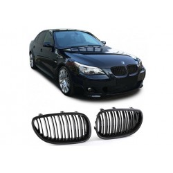 BMW 5er Limo 2003-2010 Carbon Doppelspeiche Sportgrill Nieren Set