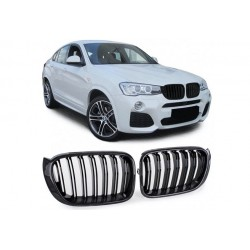 BMW X4 2014-2018 Carbon Doppelspeiche Sportgrill Nieren Set