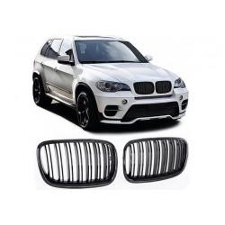 BMW X5 2006-2013 Carbon Doppelspeiche Sportgrill Nieren Set