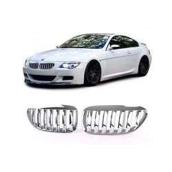 BMW 6er 2003-2010 Chrom Sportgrill Nieren Set