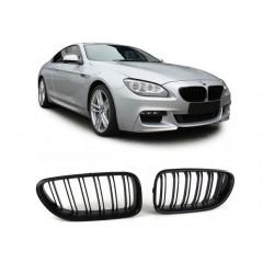 BMW 6er 2011- Schwarz matt Doppelspeiche Sportgrill Nieren Set