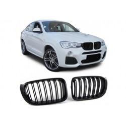 BMW X4 2014-2018 Schwarz matt Doppelspeiche Sportgrill Nieren Set