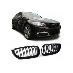 BMW 3er Gran Tourismo 2011- Schwarz matt M3 Look Sportgrill Nieren Set