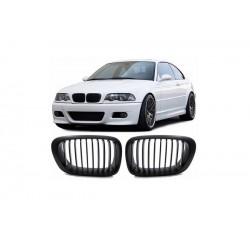 BMW E46 Coupé | Cabrio 1999-2003 Schwarz matt M3 Look Sportgrill Nieren Set
