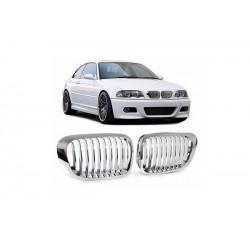 BMW E46 Coupé | Cabrio 1999-2003 Chrom M3 Look Sportgrill Nieren Set
