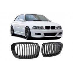 BMW E46 Coupé | Cabrio 1999-2003 Schwarz glanz M3 Look Sportgrill Nieren Set