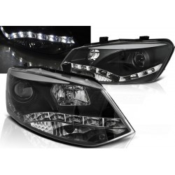 LED Scheinwerfer Schwarz VW Polo 6R