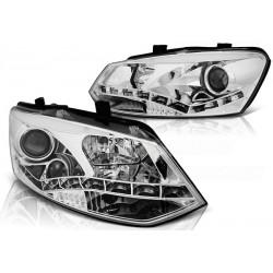 LED Scheinwerfer Chrom VW Polo 6R