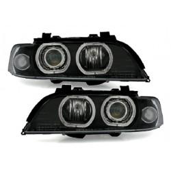 LED 3D Angel Eyes Schwarz Scheinwerfer BMW E39