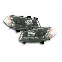 LED Scheinwerfer Schwarz Renault Megane 2