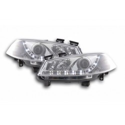 LED Scheinwerfer Chrom Renault Megane 2