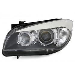 LED Angel Eyes Scheinwerfer Schwarz BMW X1