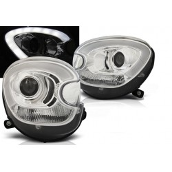 LED Scheinwerfer Chrom Mini Countryman