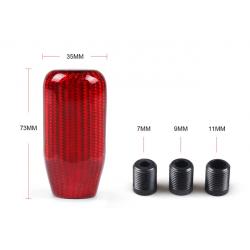 Carbon Schaltknauf Rot universal 75mm