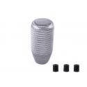 Carbon Schaltknauf Silber universal 75mm