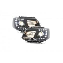LED DRL Scheinwerfer schwarz VW T5 GP 09-14