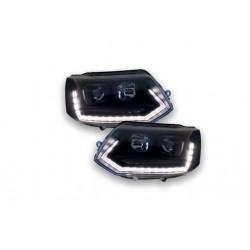 LED DRL Dynamic Scheinwerfer schwarz VW T5 GP 09-14