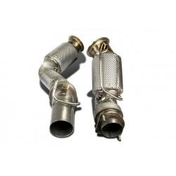 65mm Downpipe mit HJS Sport-Kat. Edelstahl