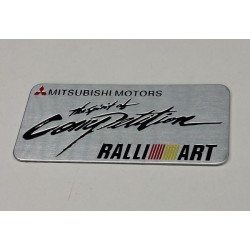 Mitsubishi RALLIART Emblem Alu