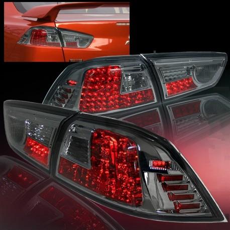 Heckleuchten LED chrom-smoke Mitsubishi EVO 10