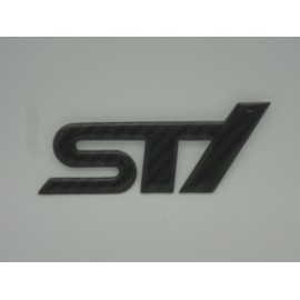 Carbon Subaru STI Emblem