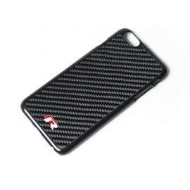 Iphone 6 echt Carbon Cover mit VW R-Line Logo