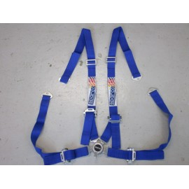 SPARCO 4 Punkt Gurt Schnellverschluss 2 Zoll blau