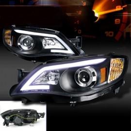 Scheinwerfer schwarz Subaru Impreza WRX STI mit Tagfahlicht 2007-