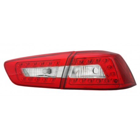Heckleuchten LED Audi Style chrom Mitsubishi EVO 10