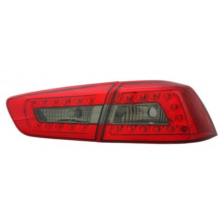 Heckleuchten LED Audi Style schwarz Mitsubishi EVO 10
