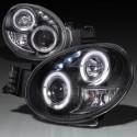 Scheinwerfer Subaru Impreza WRX 2001-2002 schwarz mit Angel Eye