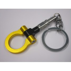 Alu Abschleppring Schlüsselanhänger Gelb