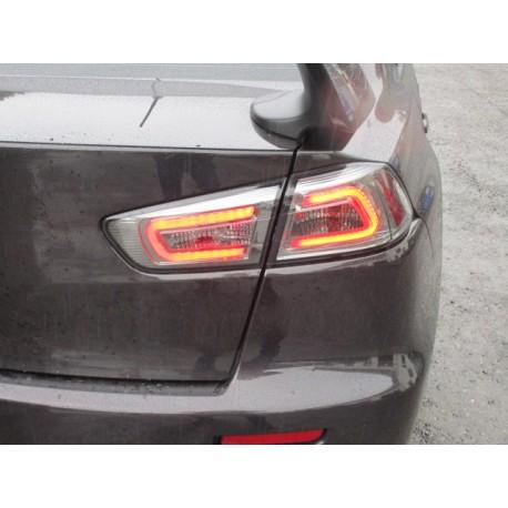 Heckleuchten NEW LED Audi Style schwarz smoke Mitsubishi EVO 10