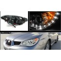 Subaru Impreza WRX STI 2005-2007 Devil Eyes LED Schweinwerfer chrom