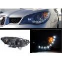 Subaru Impreza WRX STI 2005-2007 Devil Eyes LED Schweinwerfer schwarz